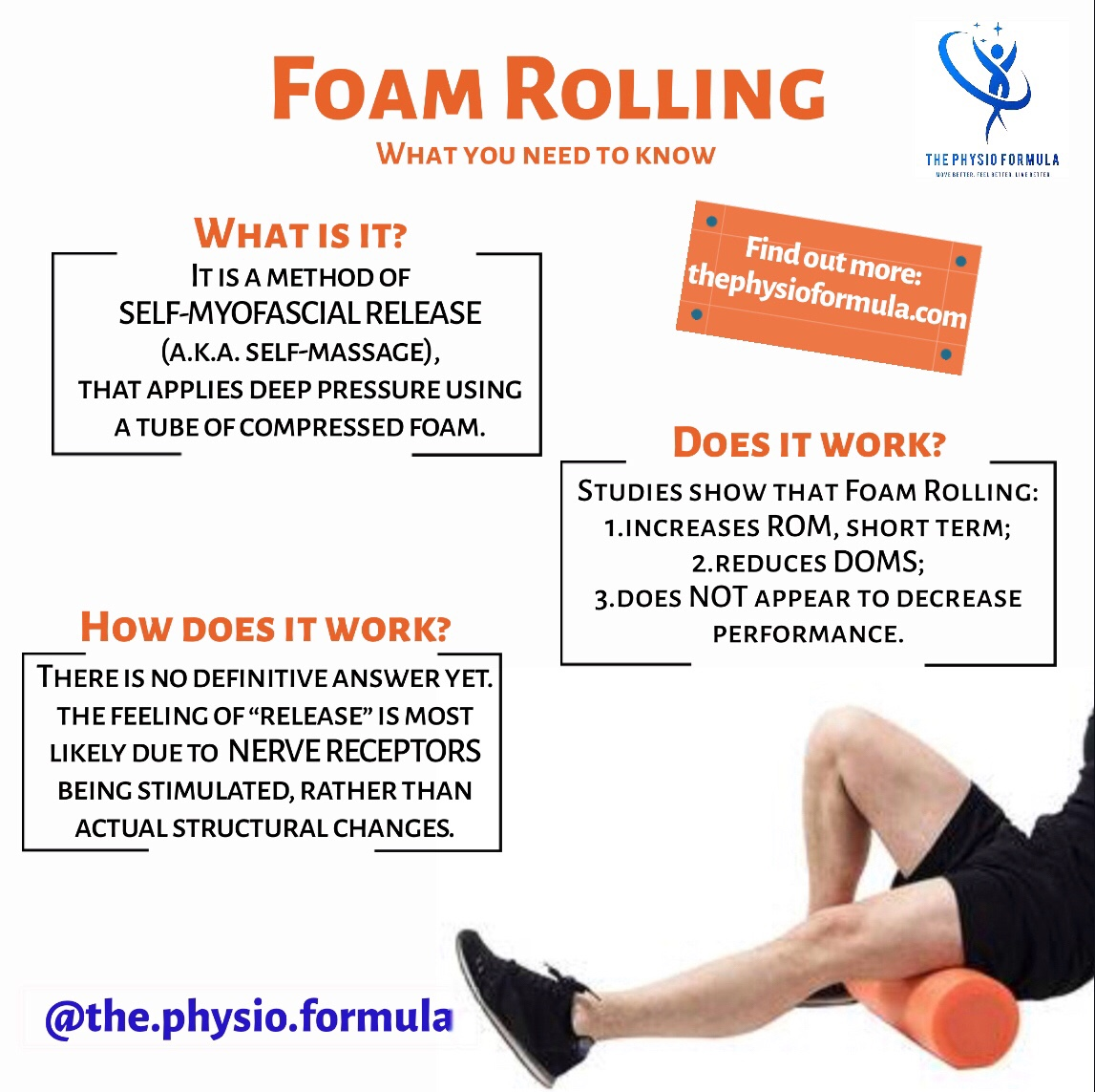 Foam Rolling: What's the Big Deal? – THE PHYSIO FORMULA