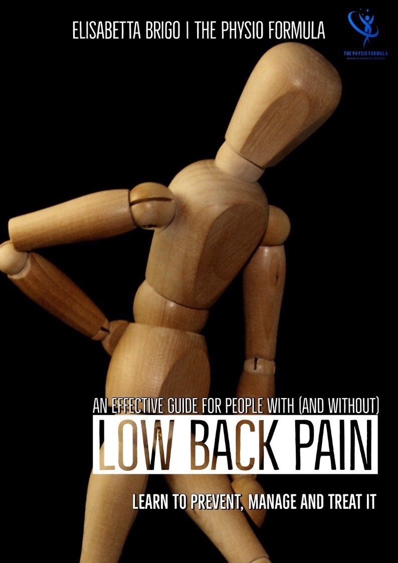 low back pain guide, Physiotherapy , the physio formula, Elisabetta brigo, back pain, low back pain relief